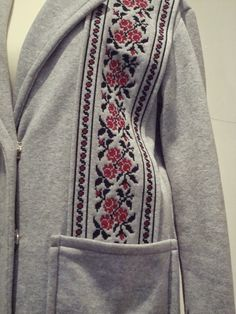 Fashion from Ukraine: Varenyky fashion Ukrainian Art, Embroidered Clothes, All About Fashion, Ukraine, Fashion Show, Bomber Jacket, Culture, Costumes, Embroidery