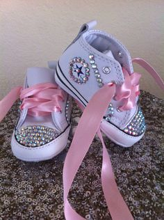 Bling baby converse ships in 1 day by Natalykisses on Etsy