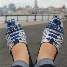 What if these slippers could do stuff like R2?  Like project movies...instead of showing Leia telling Obi Wan he's her only hope...these guys could show  Dumb and Dumber.  That'd be great.