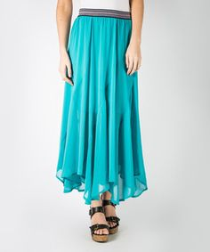 Vivid Green Twirl Skirt by DownEast Basics #zulily #zulilyfinds