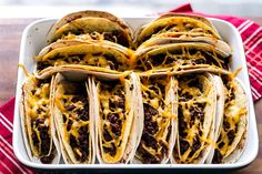 Hooray for taco night! Baked Double Decker Tacos from www.girlgonegourmet.com