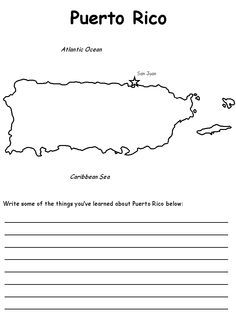 Puerto Rico Flag Coloring Pages Puerto Rico Map, Puerto Rico Island, Puerto Rican Flag, Puerto Rico History, Spanish Activities, Teaching Spanish, Learning Activities, Social Studies Projects, Learn Spanish Online
