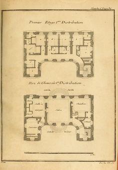Floor plans for a hôtel particulier