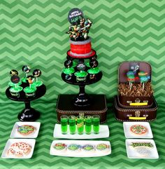 Teenage Mutant Ninja Turtle Party Ideas - great for little turtle fans via CatchMyParty.com.