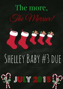 The pregnancy announcement we used for Baby #3 at Christmastime!