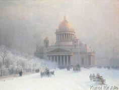 Ivan Konstantinovich Aivazovsky - Ansicht der Isaaks-Kathedrale im Schnee