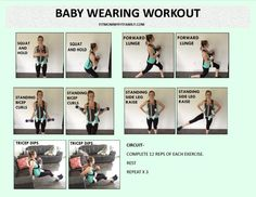 Baby Wearing Workout  For newborn + All you need is a baby carrier or wrap with neck support.  Http://www.fitmommyfitfamily.com  Check out the link for a video demonstration and how-to's with description!