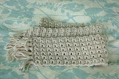 """""""star"""" scarf - crochet, free pattern"""
