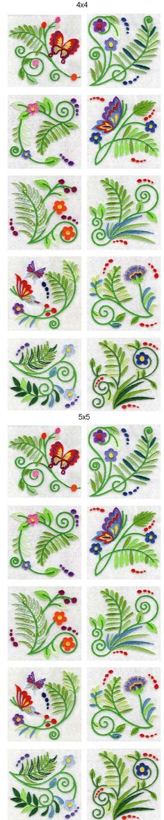 Jacobean Ferns Embroidery Machine Design Details
