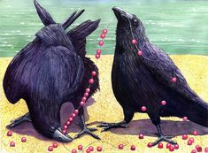Ravens Painting by Catherine G McElroy - Ravens Fine Art Prints and Posters for Sale