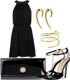 """""""sexy in black"""" by agicah ❤ liked on Polyvore"""