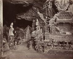 Bourne and Shepherd, Kha Yone Cave near Moulmein, Burma, 1872