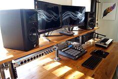 Reclaimed Wood Studio Desk