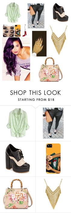 """""""Untitled #2736"""" by sammibeawsome ❤ liked on Polyvore featuring Jeffrey Campbell and Gucci"""