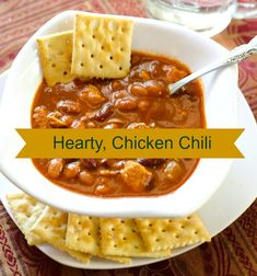 This chili is perfect for fall and winter weather! Best thing? It's quick and uses fresh ingredients! The chicken adds a nice flavor that makes your kitchen smell yummy!