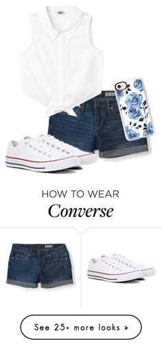 """""""Untitled #85"""" by gabby23-2 on Polyvore featuring Aéropostale, Converse, Casetify, white, denim and polyvorefashion"""