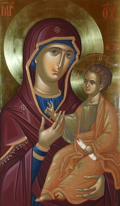 Madonna and Child Byzantine Icons, Byzantine Art, Blessed Mother Mary, Blessed Virgin Mary, Religious Icons, Religious Art, Roman Church, Christian Artwork, Mama Mary