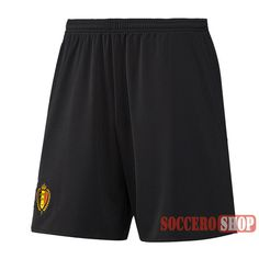 2016 2017 Season Belgium Away Black New Best Soccer Shorts Thailand Quality | Soccero-Shop