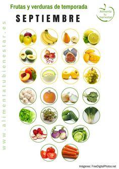 Frutas y verduras de temporada para septiembre
