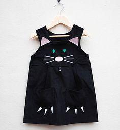 Girls Cat Dress Costume