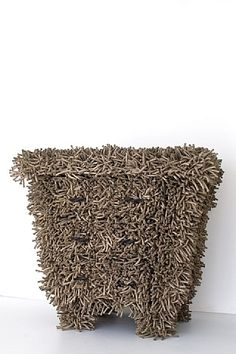 Tactoris, Commode, by French artist Christian Astuguevieille, made from hemp rope and oak.