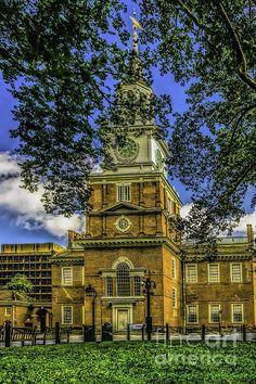 Independence Hall-philadelphia Print by Nick Zelinsky
