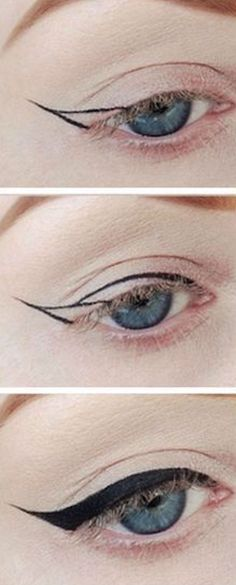 ways to do eyeliner / eyeliner ways ; ways to do eyeliner ; different ways to do eyeliner ; ways to wear eyeliner ; ways to apply eyeliner ; easy ways to do eyeliner ; easy ways to apply eyeliner ; different ways to wear eyeliner Simple Eyeliner Tutorial, Winged Eyeliner Tutorial, Winged Liner, Eye Tutorial, Make Up Tutorial, Eyeliner For Beginners, Makeup Tutorial For Beginners, Makeup Tutorial Step By Step, Make Up Beginners