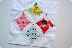 Cathedral Window Quilt Block tutorial from The Sometimes Crafter