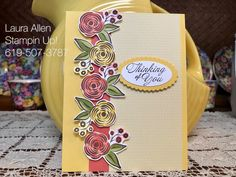 I used the new Perennial Birthday stamp set from Stampin Up!