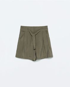 Image 8 of HIGH-WAISTED SHORTS WITH BELT from Zara