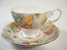 Royal Albert  Rosetime  Tea Cup and Saucer  Pink