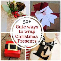30+ cute ways to wrap Christmas Presents | NoBiggie.net