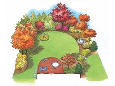 Eplans Landscape Plan: There is no better way to wake up in the morning than to the sound of songbirds in the garden. Wherever you live, you will be surprised at the number and variety of birds you can attract by offering them a