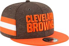 64d847fa1 New Era Men s Cleveland Sideline Home 9Fifty Brown Adjustable Hat Cleveland  Browns