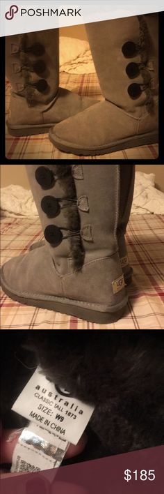 Women's UGG Bailey Button Tall size 9 These are great super soft boots perfect for a stylish winter they go with everything!! 100% Authentic Very lightly worn 1-3 times excellent condition Regular price 225$$ UGG Shoes Winter & Rain Boots