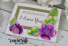 Altenew Adore You card coloured with Zig Clean Color markers Altenew, Adore You, Card Designs, Hello Everyone, I Card, Your Cards, Markers, Promotion, About Me Blog