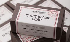 soap label with masculine design | Hudson Made packaging by Hovard Design