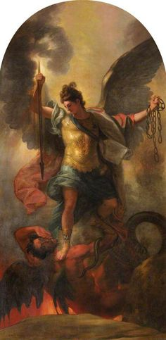 St Michael the Archangel is the patron saint and guardian of the Catholic Church and Vatican City; protector of the Jewish people, police officers, military, mariners, and paratroopers.