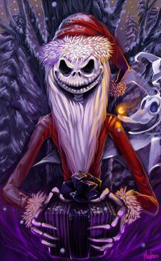 Jack+Skellington+Clip+Art | Santa Claws by Maylen Kors aka SpookyGlow