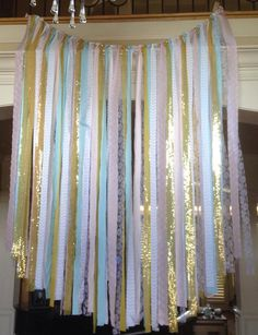 Gender Reveal Party Decor  baby blue and pink gold by MOgorgeous