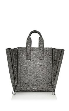 3.1 Phillip Lim Accessories Two-Toned Shark Embossed Pashli Large Tote