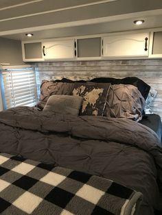 Rv Homes, Travel Trailer Remodel, Loft, Rv Interior, Camper Makeover, Camper Renovation, Diy Camper, Rv Trailers, Remodeled Campers