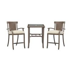 Hampton Bay Bloomfield 3-Piece Woven Patio Balcony Set with Bare Cushions-14H-039-3BAL-NF at The Home Depot