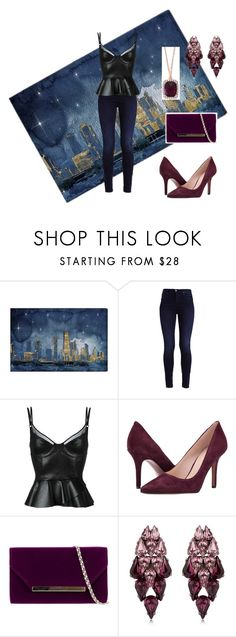 """""""Night Look"""" by amanda-368 ❤ liked on Polyvore featuring Oliver Gal Artist Co., Jitrois, Nine West, Ellen Conde, Effy Jewelry, NightOut and nighlook"""