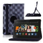 "360 Rotating Leather Smart Case Cover Stand For Amazon Kindle Fire HDX 7"" inch"