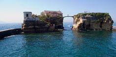 "empty villa from the ""beautiful but cursed"" Gaiola Island"
