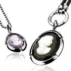 Zinzi's vintage style cameo pendants