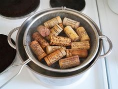 cutting wine corks