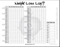 This printable chart is to be used for tracking weight and