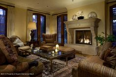 A spectacular marble fireplace. Woody Creek, CO Coldwell Banker Mason Morse Real Estate $21,750,000